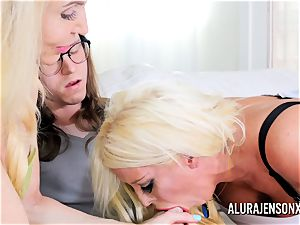 Erica Lauren and Alura Jenson gash porking three