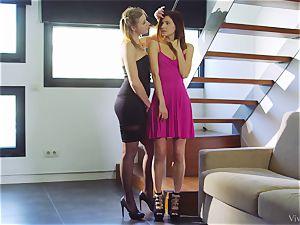 super-fucking-hot lesbians Aria Logan and Arian