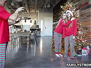 Niki Snow gets a tearing up for Christmas from her dad