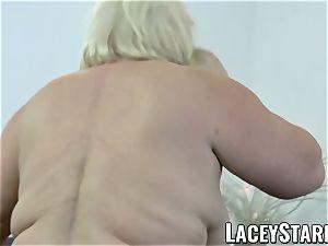 LACEYSTARR - grandma rectally creampied with big black cock