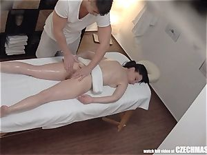 super slim gal Getting massage of Her Life