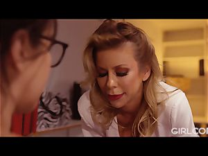 GIRLCORE boss cougar Alexis Fawx eats Out April O'Neil