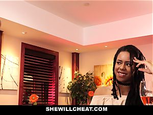 SheWillCheat - hotwife wifey tears up big black cock in shower