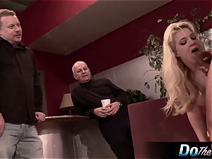 wife gets analled in front of hubby