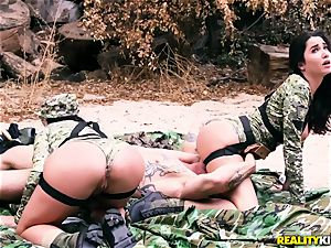 Angela milky, Karlee Grey - super-steamy army hoes with yam-sized boobies