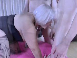 LACEYSTARR - greedy granny gangbanged