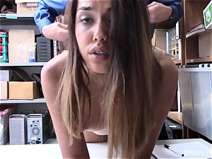 Esperanza Del Horno bashed in the booty by kinky security guard
