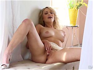 cute platinum-blonde Mia Malkova adores her tender pussy