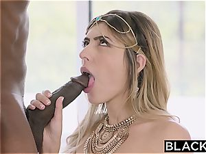 Arab girl Audrey Charlize enjoys the taste of a bbc