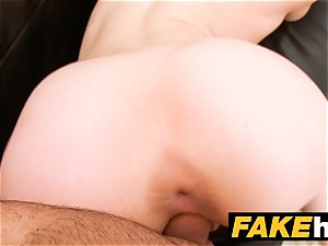 faux Agent creampie for new sandy-haired american model