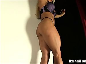 fitness blondie peels off down for you