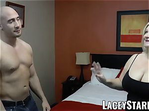 LACEYSTARR - GILF seduces ginormous dicked teddy into pummeling