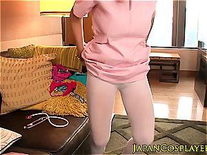 japanese nurse left with cum in her jummy cootchie