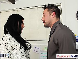 Audrey Bitoni at the office down for a poke to her fuckbox