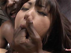 japanese superstar enjoys anal With fat ebony boner