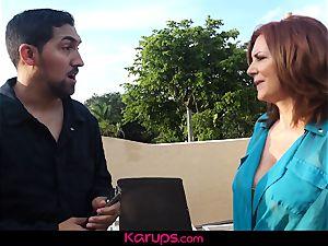 Karups crazy nubile Natalie Brooks pulverizes boyfriend