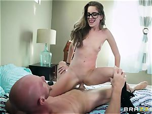 accomplished professor Johnny Sins punishes naughty college girl in glasses Kimmy Granger