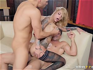 Bonnie Rotten taking it rock hard in every crevice