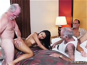 older man youthful biotch Staycation with a mexican bombshell