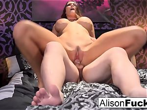big-chested Alison gets drilled stiff