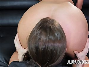 buxom cougar Alura Jenson has her yam-sized rump adored