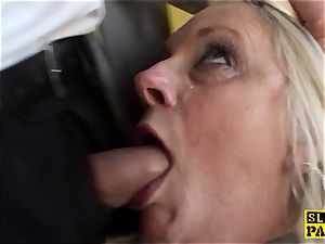 Bigtitted brit gran gets tough domination