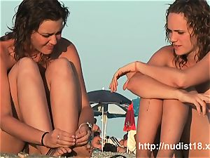 nudist beach spycam vid with epic naturist teenagers