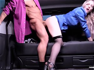 pummeled IN TRAFFIC - super-fucking-hot car hookup with brit Carly Rae