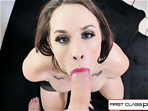 FirstClassPOV - killer Chanel Preston deepthroat a large spear