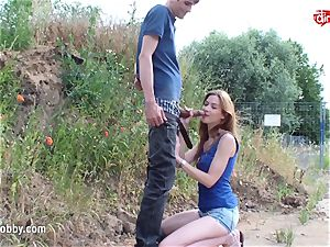 My muddy leisure activity - hasty outdoor pound and mammary facial cumshot