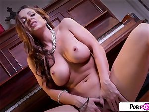 Abigail Mac demonstrate you how much she loves to jism for you