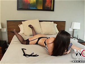 Bored by her boyfriend and plowed by a ebony stud