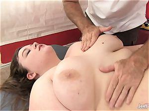 super hot fatty Sapphire Rose gets a romp rubdown