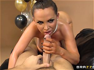 Nikki Benz celebrates with an oily buttfuck pummel