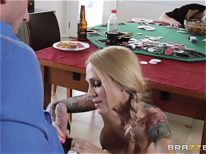 Sarah Jessie porking her husbands poker friend