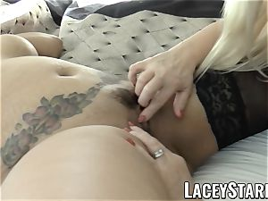 LACEYSTARR - biz GILF tongue examines youthful puss