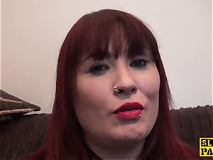 huge-titted brit sandy-haired predominated with roughsex