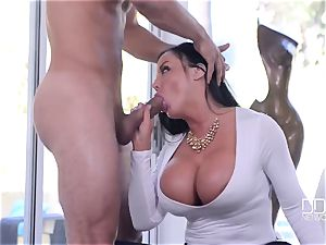 super-cute big-titted milf with perfect curvaceous bod takes stranger's hefty shaft in her tight honeypot