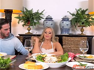 Julia Ann and Lily Rader get mischievous at the dinner table