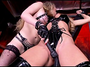hot Kagney Karter torments a strapped up Amy Brooke