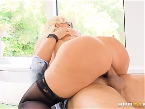 horny blond caught pummeling me