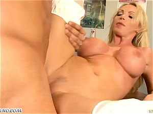 yam-sized bap cougar dr. Nikki Benz takes a massive shaft in the polyclinic