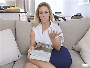 milf Cherie Deville almost caught by spouse banging stepson