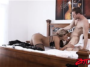 sub cougar Mercedes Carrera tucked with yam-sized dick
