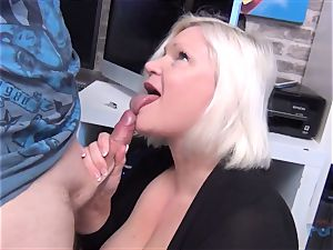 sizzling cougar Lacey Starr manmeat deep throating