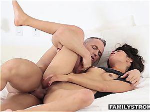 Latina stepdaughter sucking manhood to skip school