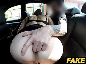 fake Cop Copper shoots a load over geeky damsels glasses