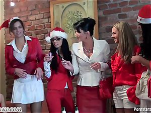 inebriated office female lesbo soiree with pissing