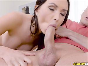 Digging man meat deep into horny stunner Sasha Rose