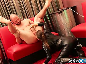 Spizoo - Abigail Mac gargle and tear up a large manhood in Space